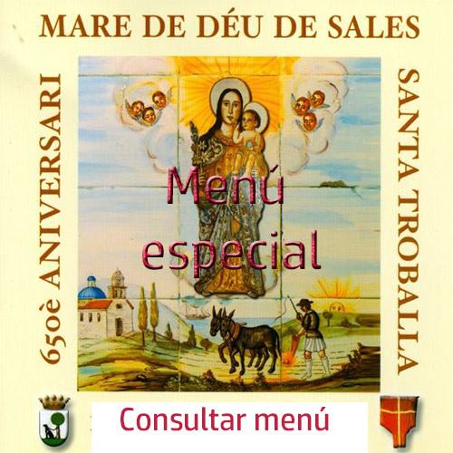Menú especial de la Virgen de Sales en el Niu Restaurante de Sueca